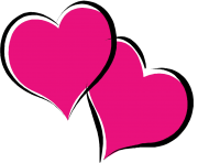 Hot Pink Heart PNG Pic