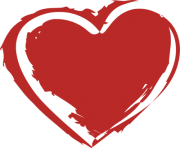 red heart png clipart