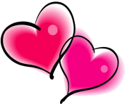 double pink Heart PNG