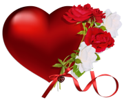 heart with roses png