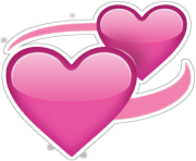 two pink hearts emoji png transparent