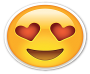 Love Hearts Eyes Emoji PNG