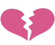 emoji heart break png