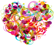 Abstract Colorful Heart PNG clipart