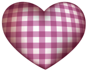 Checkered Heart PNG clipart