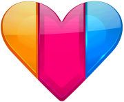 Colorful Heart PNG clipart