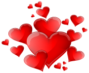 Hearts Decoration PNG clipart transparent