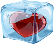 Heart in Ice Cube PNG clipart