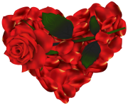 Heart of Roses PNG clipart