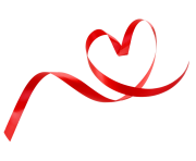 heart background ribbon style