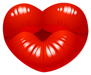 heart png transparent kiss