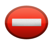 ios emoji no entry