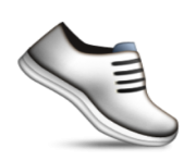 ios emoji athletic shoe