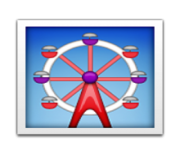 ios emoji ferris wheel