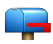 ios emoji closed mailbox with lowered flag