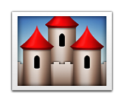 ios emoji european castle