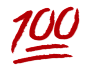 ios emoji hundred points symbol