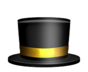 ios emoji top hat
