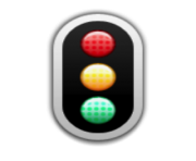 ios emoji vertical traffic light