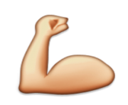 ios emoji flexed biceps