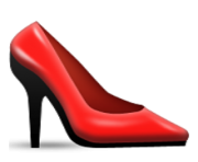 ios emoji high heeled shoe
