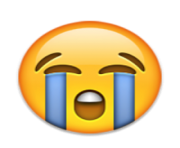 ios emoji loudly crying face