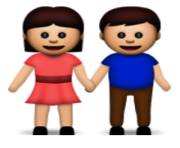 ios emoji man and woman holding hands