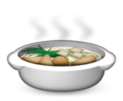 ios emoji pot of food