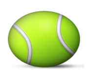 ios emoji tennis racquet and ball