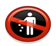 ios emoji do not litter symbol