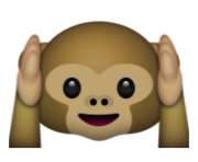 ios emoji hear no evil monkey