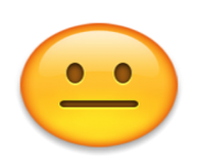 ios emoji neutral face