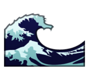 ios emoji water wave