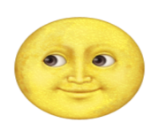 ios emoji full moon with face