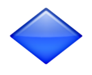 ios emoji large blue diamond