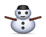 ios emoji snowman without snow