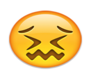 ios emoji confounded face