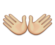 ios emoji open hands sign