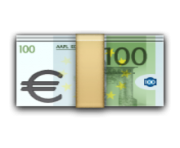 ios emoji banknote with euro sign