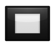 ios emoji black square button