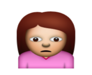 ios emoji person frowning