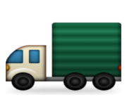 ios emoji articulated lorry