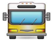 ios emoji oncoming bus