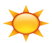 ios emoji black sun with rays