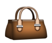 ios emoji handbag