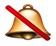 ios emoji bell with cancellation stroke