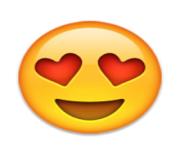 ios emoji smiling face with heart shaped eyes
