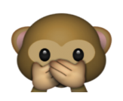 ios emoji speak no evil monkey