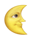 ios emoji last quarter moon with face