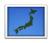 ios emoji silhouette of japan